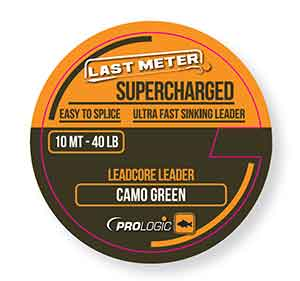 PL Supercharged Leadcore Leader 10m 50lbs Camo Green
