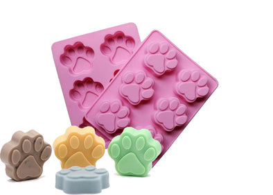 Soap Mold Paw Print Silicon Mold (6 Cavities)