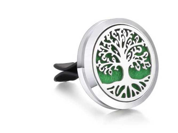 Car Aromatherapy Diffuser / Tree of Life / Vent Essential Oil Diffuser + 10 Pads