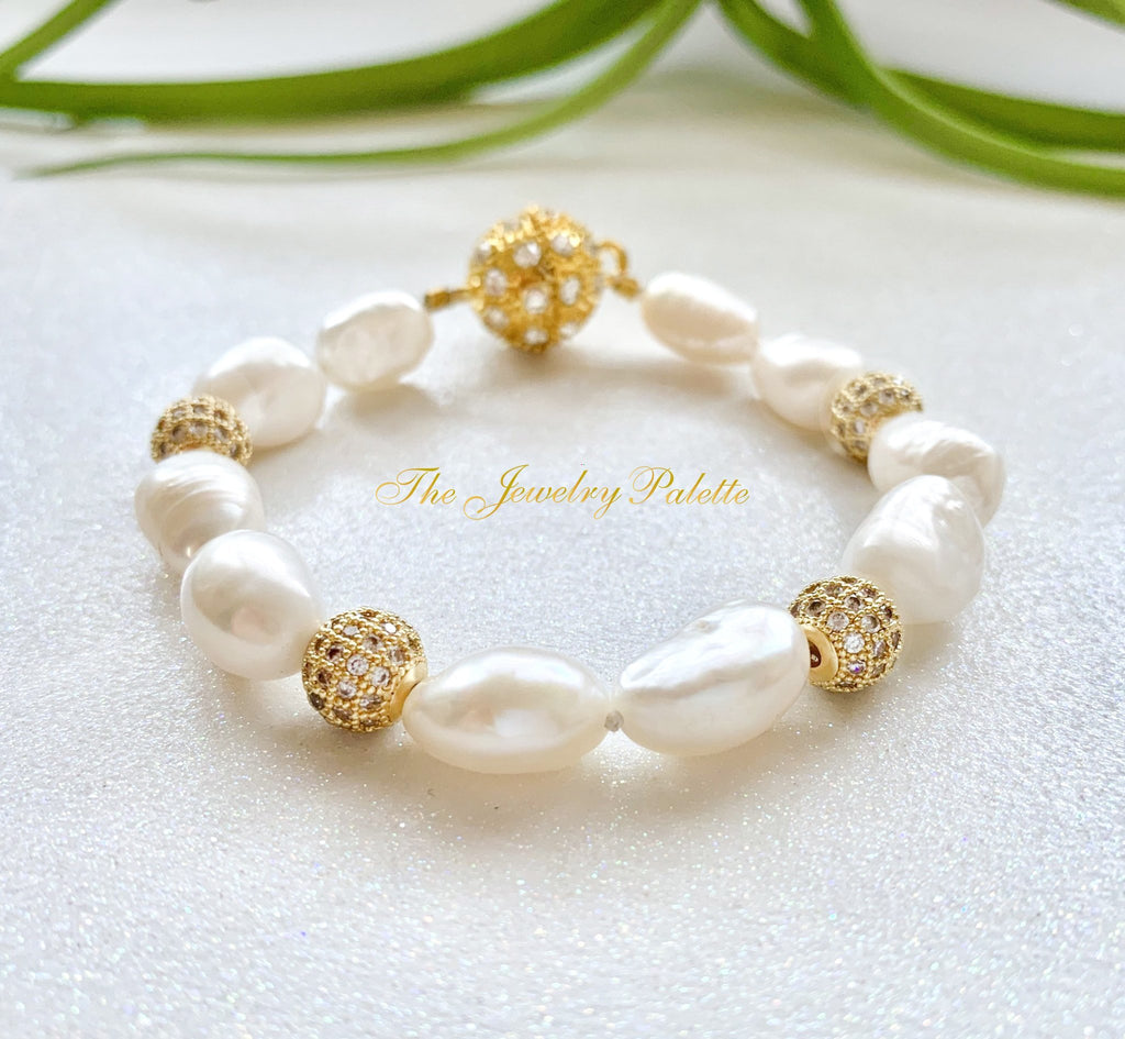 Marjaan pearl and zircon bracelet - The Jewelry Palette