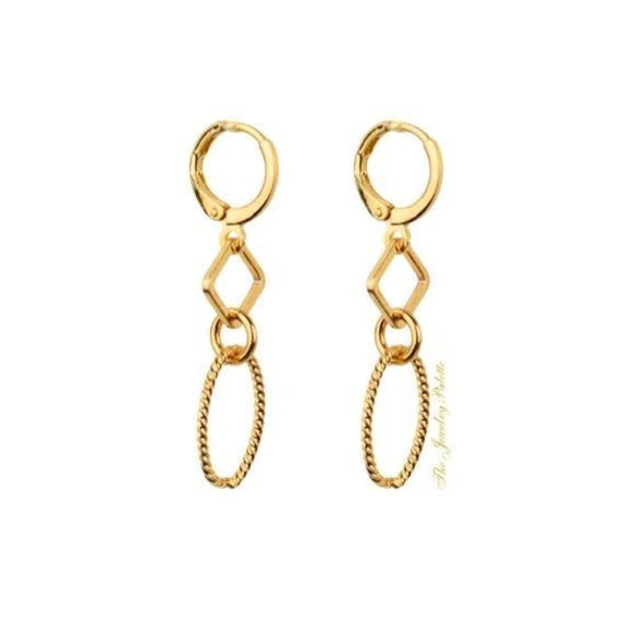 Valerie trendy chain link earrings - The Jewelry Palette