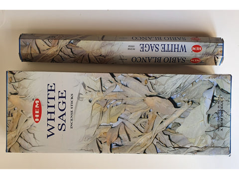 <p>HEM</p> White Sage Garden Incense Sticks