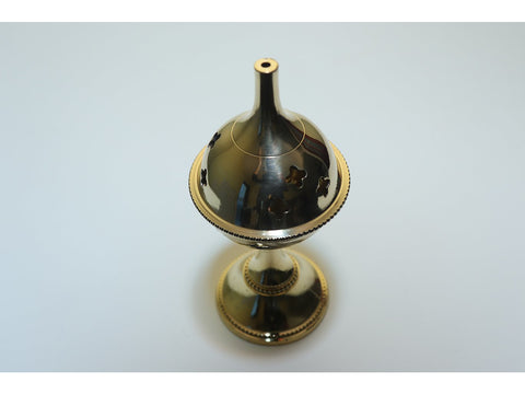 Brass goblet incense burner - large