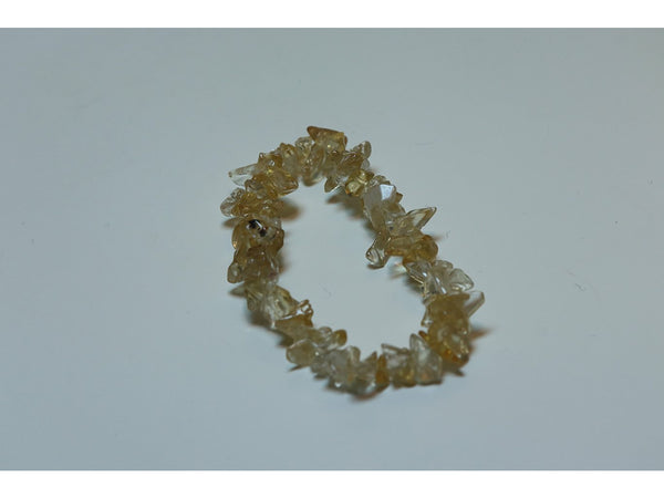 Crystal chip power bracelet - Citrine