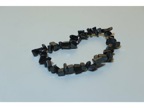 Crystal chip power bracelet - Haematite