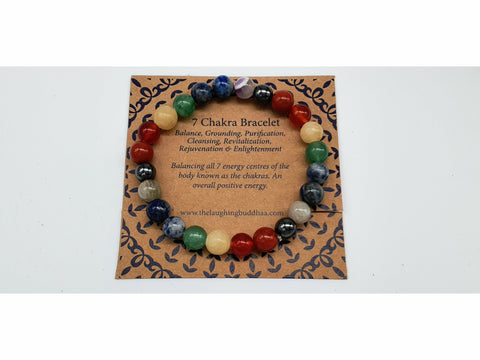 The Laughing Buddhaa 7 Chakra Bracelet Balanced