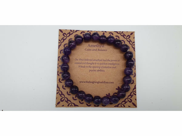 The Laughing Buddhaa Amethyst Bracelet Calm and Balance