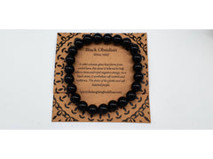 The Laughing Buddhaa Black Obsidian Bracelet Stress Relief