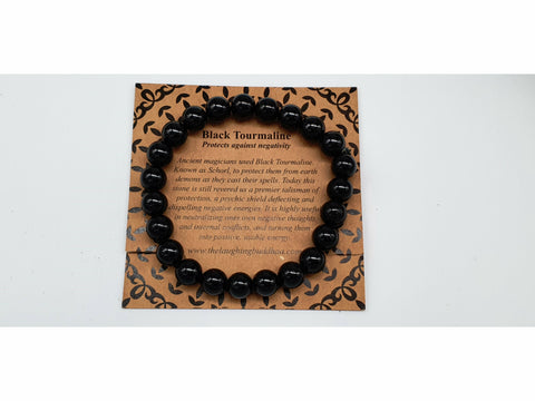 The Laughing Buddhaa Black Tourmaline Bracelet Protects against Negativity