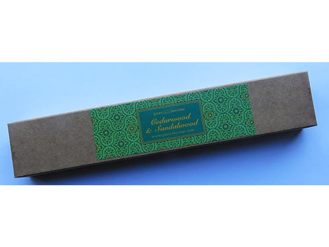 Cedarwood & Sandalwood Indian Incense - Pure Incense Absolute - 50 gram Box