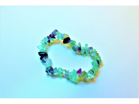 Crystal chip power bracelet - Fluorite