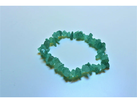 Crystal chip power bracelet - Green Aventurine