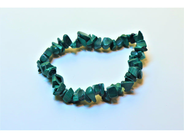 Crystal chip power bracelet - Malachite