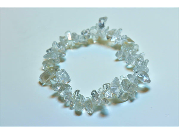 Crystal chip power bracelet - Rock Quartz