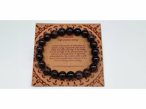 The Laughing Buddhaa Garnet Bracelet Positive Energy