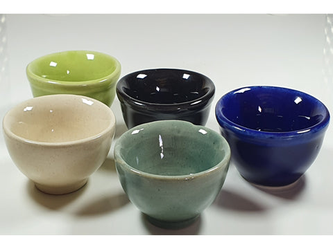 Glazed ceramic dishes
