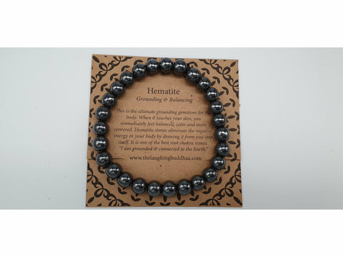 The Laughing Buddhaa Hematite Bracelet Grounding and Balancing