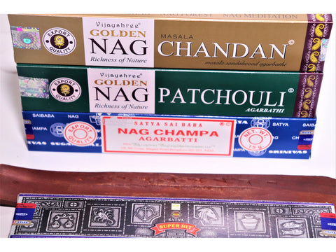 <p>Indian incense stick selection</p> Plus classic ash-catcher