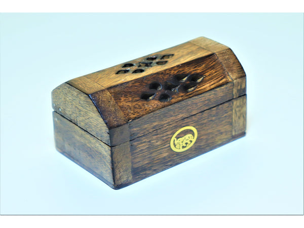Wooden mini-smokebox for incense cones