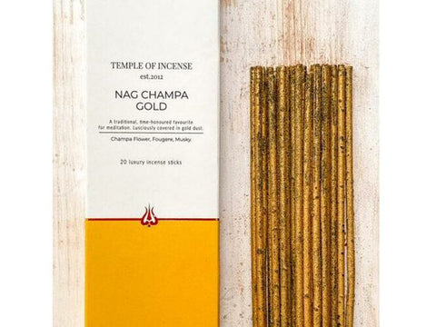 Temple of Incense - Nag Champa Gold - 20 Stick Pack