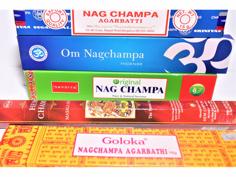 <p>Nag Champa Incense Sticks</p> Variety / Trial Pack