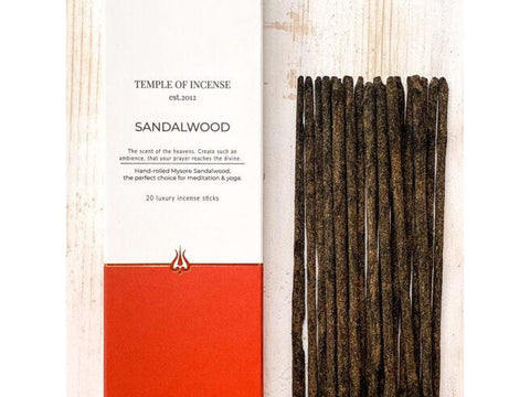 Temple of Incense - Sandalwood - 20 stick pack