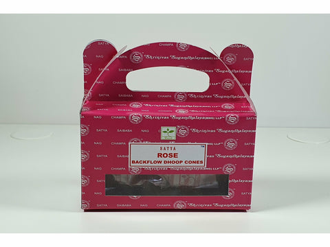 Satya Backflow Dhoop Cones - Rose
