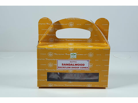 Satya Backflow Dhoop Cones - Sandalwood