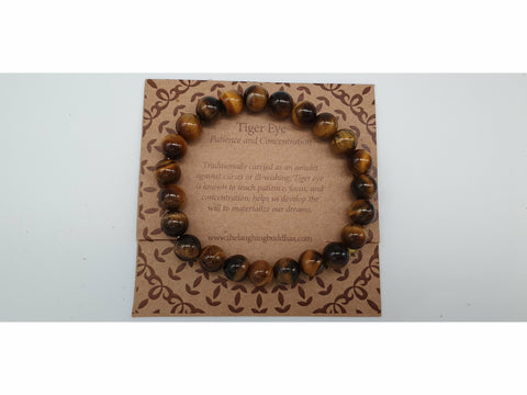 The Laughing Buddhaa Tiger Eye Bracelet Patience and Concentration