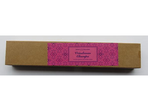 Vrindavan Champa Indian Incense - Pure Incense Absolute - 50 gram Box