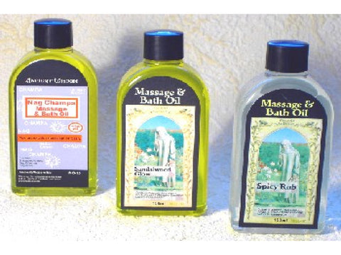 Ancient Wisdom massage & bath oils
