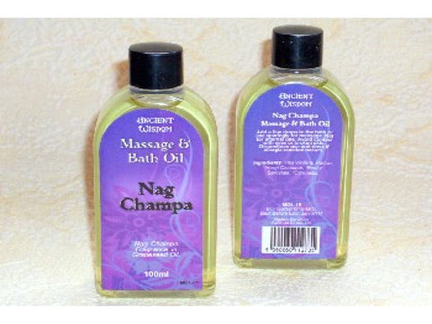 Nag Champa fragranced massage & bath oil