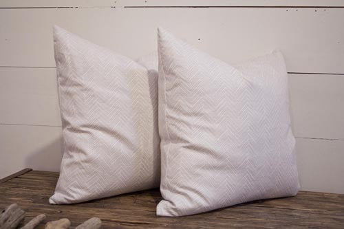 Lilac Herringbone Sketch Pillow