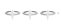 Anestar01 Set of 3 Stella Rings
