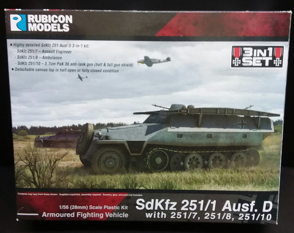 1/56 Sd.Kfz 251D 3-in-1 Kit