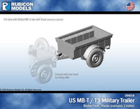 1/56 US Jeep MB-T / T3 Military Trailer