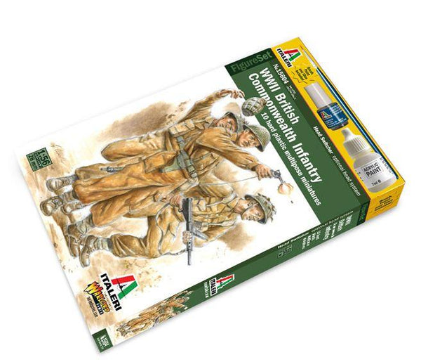 1/56th WWII British Infantry (Italeri) 10 Figs