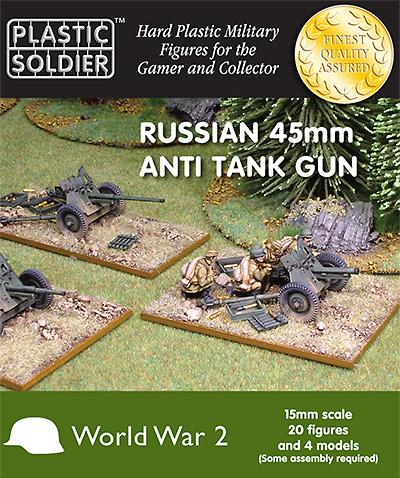 15mm Russian / Soviet 45mm Anti-Tank Guns