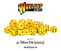 30 Yellow D6 Dice (10mm)