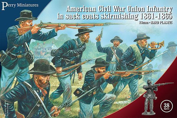 ACW Union Infantry in sack coats Skirmishing (Perry)