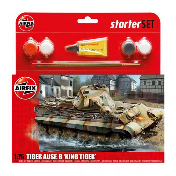 Airfix Med Starter Set King Tiger Tank