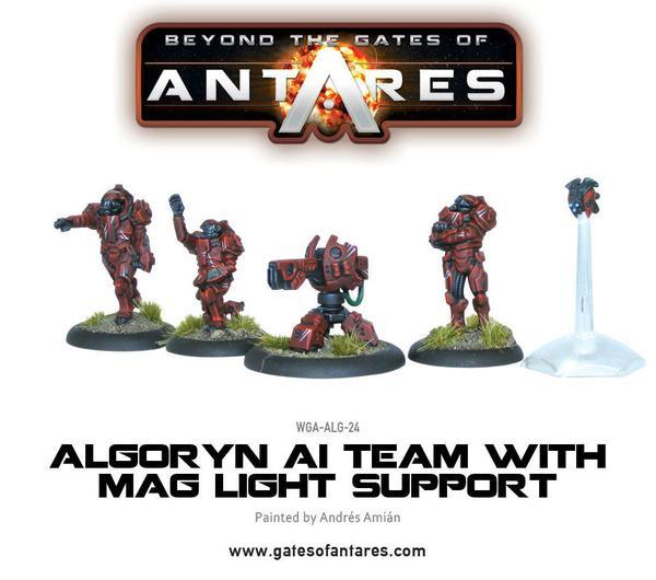 Algoryn AI Support Team with Mag Light Support