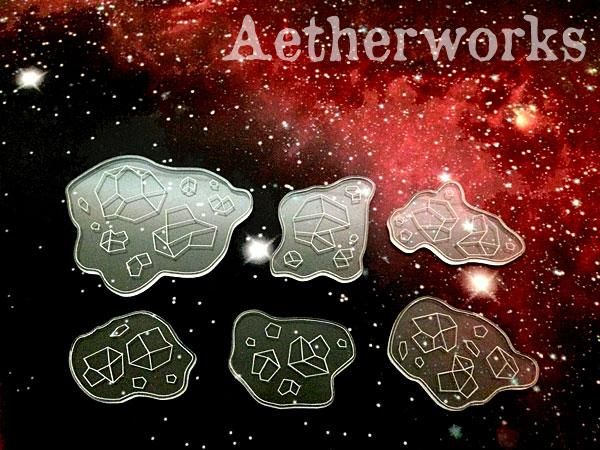 Asteroid Templates - Clear (6)