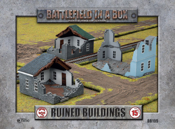 Ruined Buildings (x3) - WWII 15mm