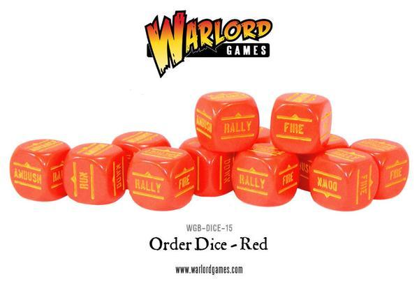 Bolt Action Orders Dice - Red (12)