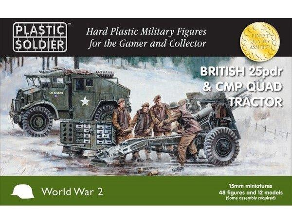 British 25Pdr Gun & CMP Quad Tractor 15mm (PSC)