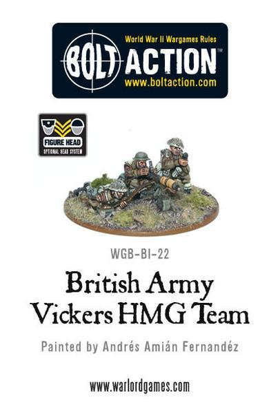 British Army Vickers HMG Team