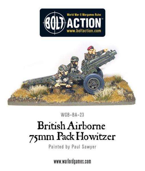 British Para 75mm Pack Howitzer & Crew