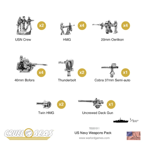 Cruel Seas US Navy Weapons Pack