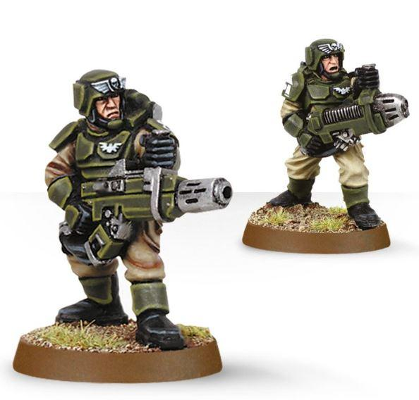 Cadians with Plasma Gun and Melta Gun